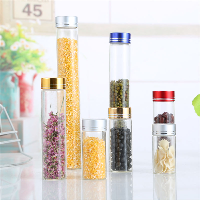 Top Quality Clear Lucid Glass Jar Child Proof Pill Bottle Glass Jar For Food Storage