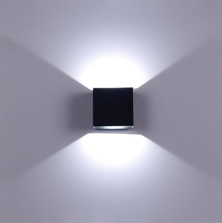 Popular Up Down Modern Design Wall Light Hotel Lamp Square Shape 6W LED Wall Sconces