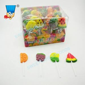 Assorted obst geformt lollipop hard candy sweets obst pop
