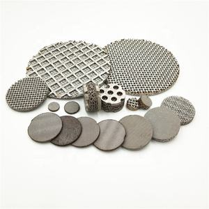 Top Grade Sintered Stainless Steel Anyaman Wire Mesh Bulat Filter Disc/Ss304 Layar Filter/Filter Kain