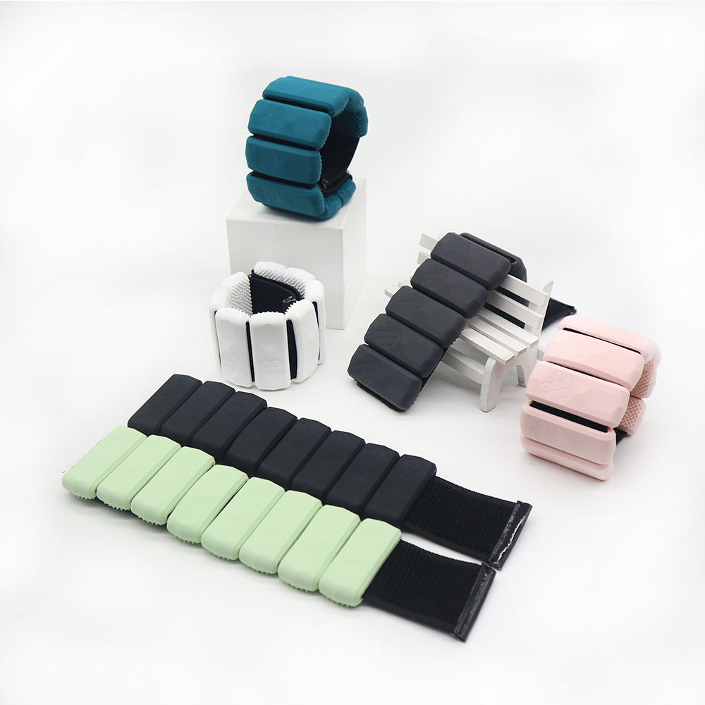 workout equipment gym wrist hand support straps adjustable weight brace set silicone ankle bracelet