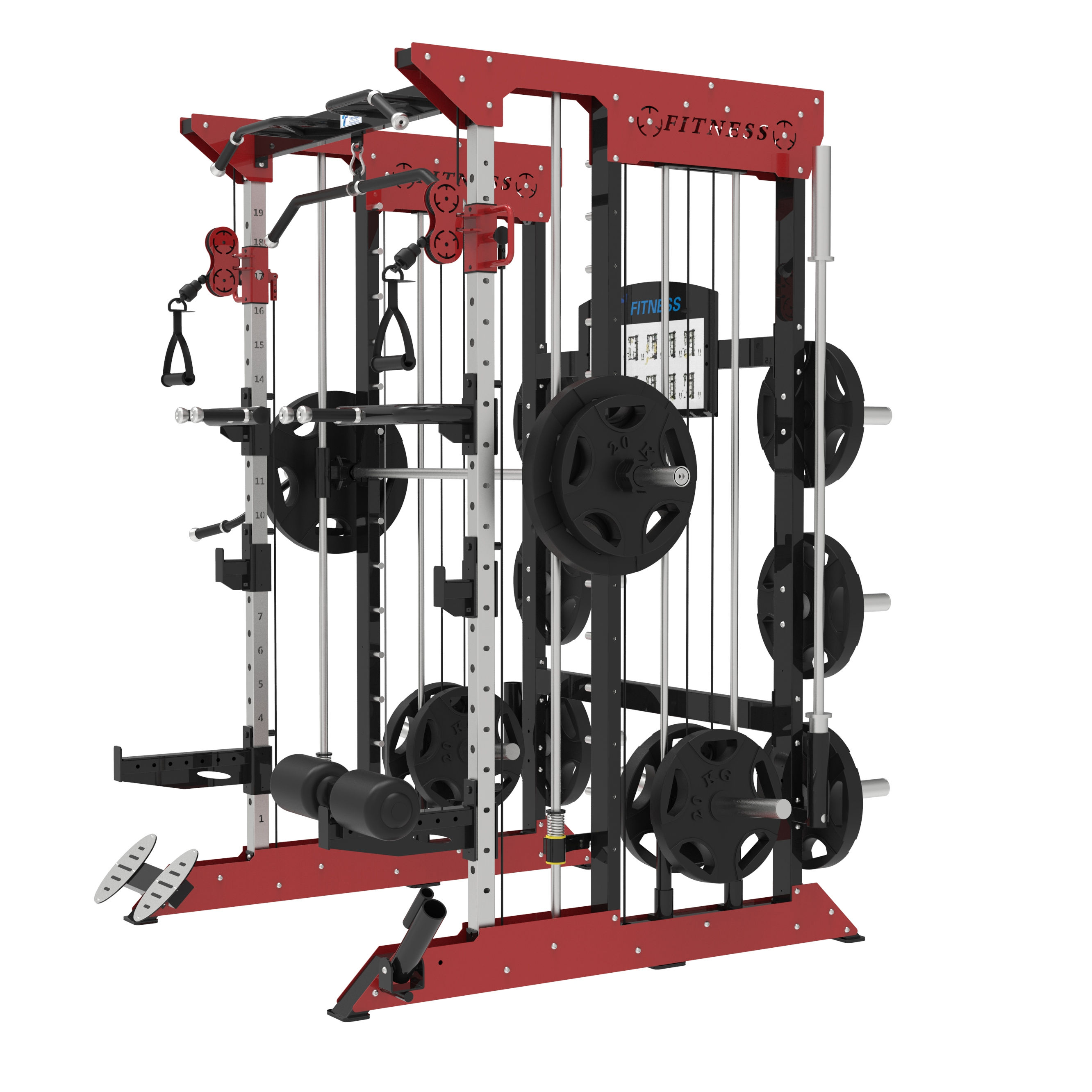 TZ-Q1002 Multi-fonction Smith Machine D'entraînement Supports Gym Commerciale de Forme Physique D'équipement de Machine De Force