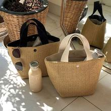 Hot sale summer beach vacation garden woven hand bag fashion straw women bags
