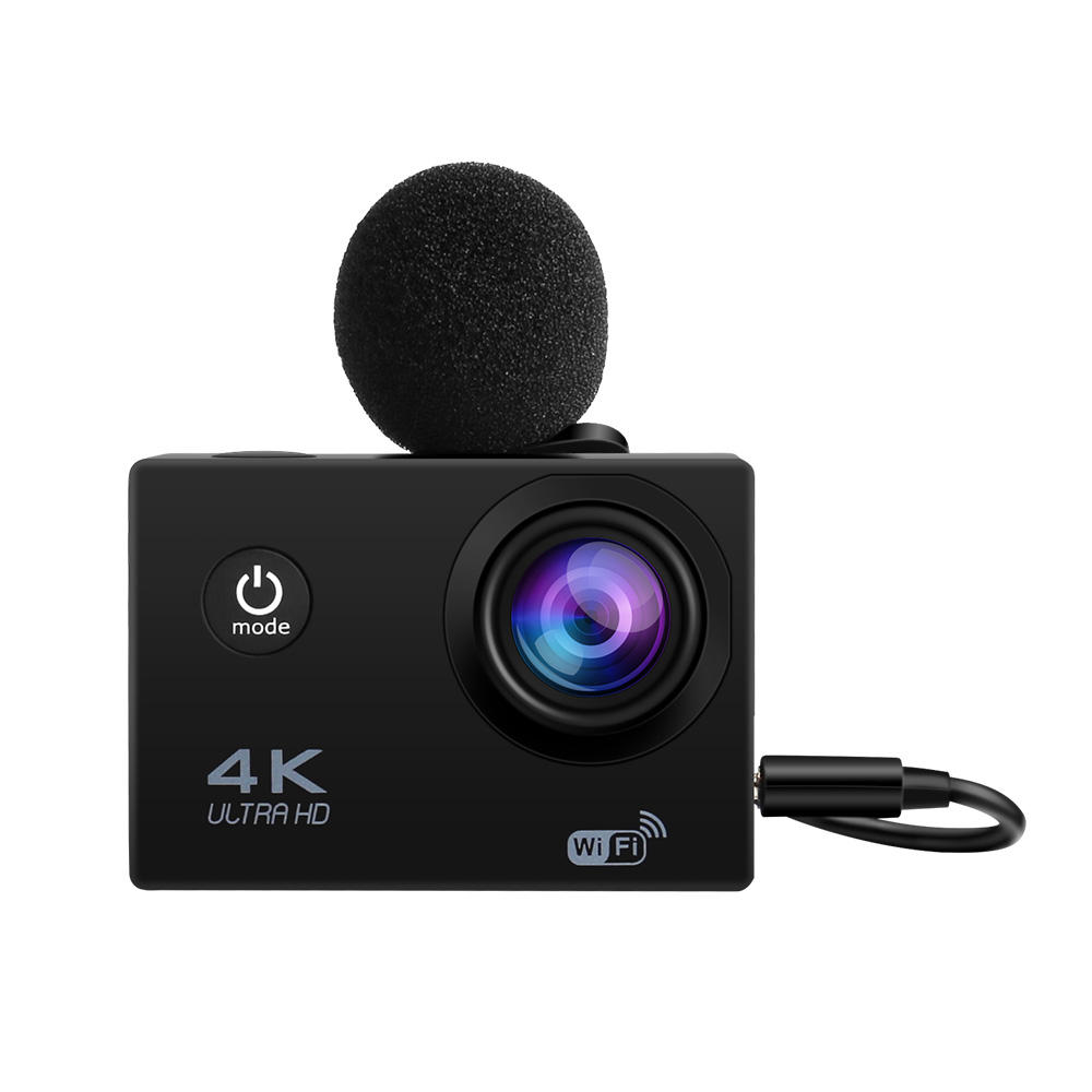 hot selling ultra 4k waterproof remote control action camera with external mic