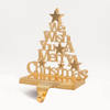 Christmas Hook Metal Stand Stocking Holder With We Wish You Merry Christmas Letters