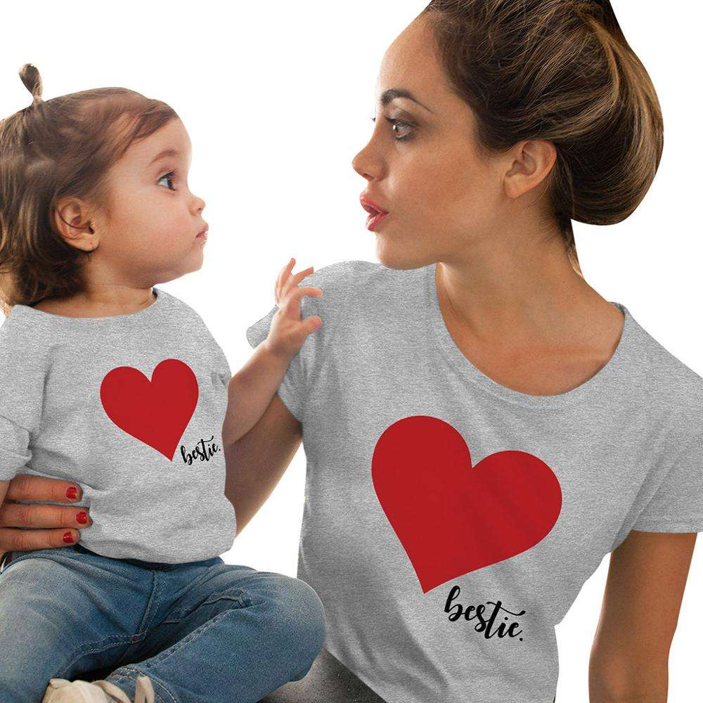 Print Mother Daughter Son Outfits Cute Family Matching Clothes Mommy And Me Outfits Women T-shirt Baby Girls Boys T Shirt