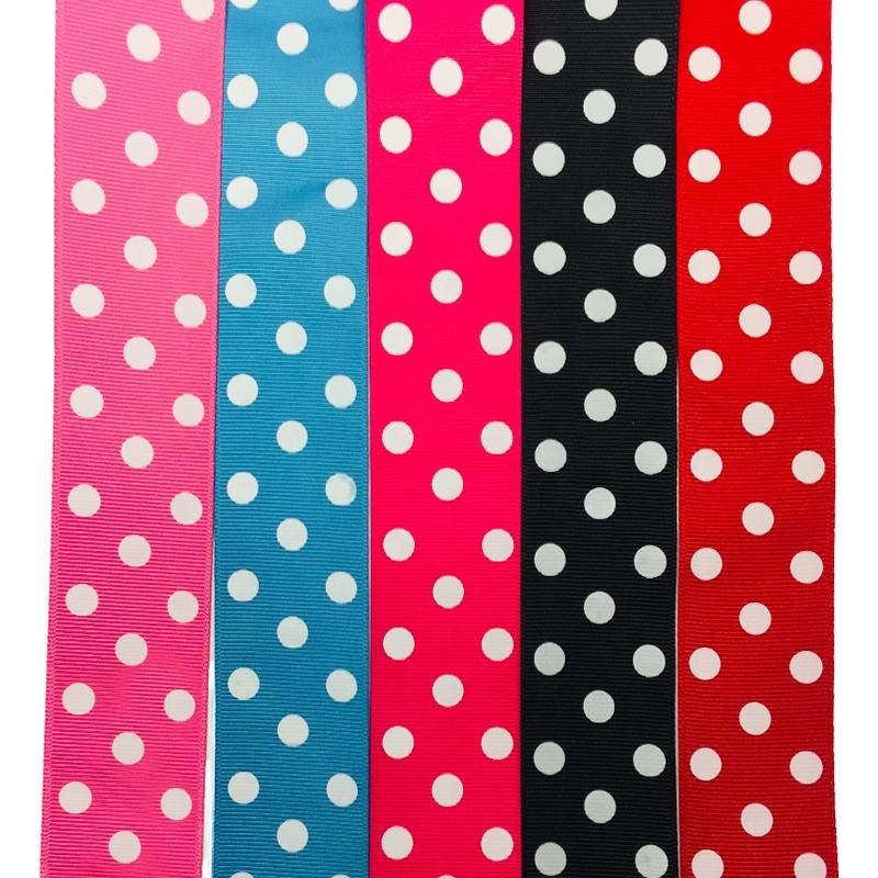 OKAY 1.5 inch 38mm polka dot Grosgrain ribbon rolls DIY Handmade, 1 12 polka dot grosgrain 100 yards