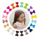 Amazon Top Seller Cute Baby Girls Bows Hairgrips Fully Lined Alligator Hair Clip Accessories China Top Factory