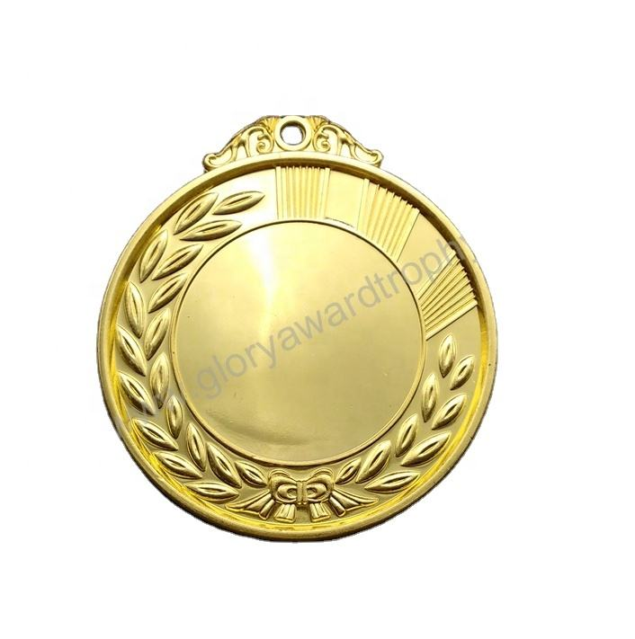 Latest Design Blank Bulk Sport Golden Silver Bronze Zinc Alloy Iron Badge Metal Award Medal for export