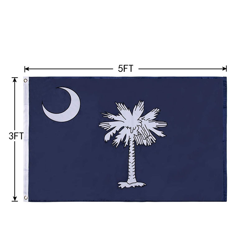 High-Grade South Carolina 3x5 FT Embroidered flags SC State Outdoor Palmetto Flag