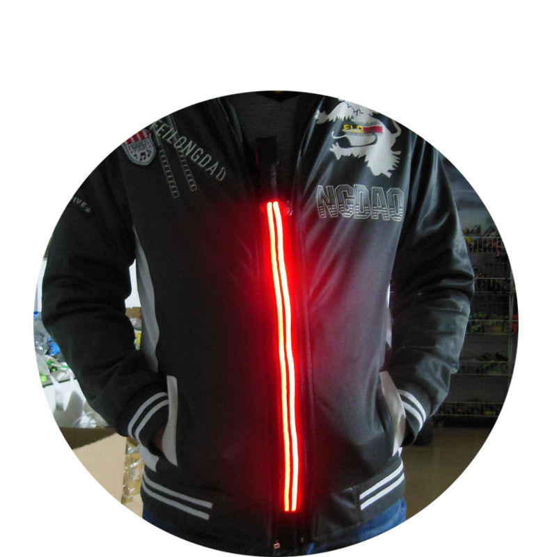 Clothing accessories led flashing zipper for hoodie
