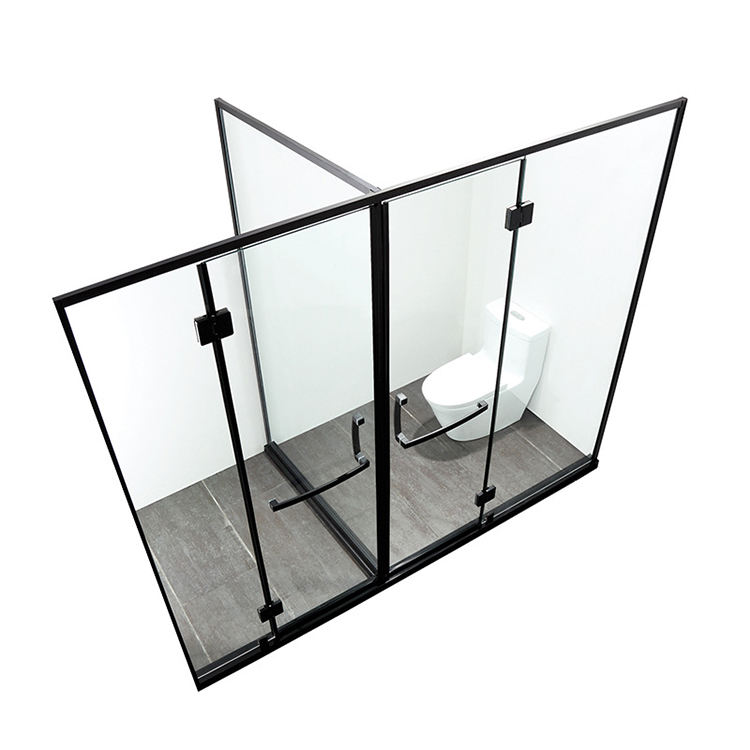 Portable Tempered Glass Steam Shower Room With Opening Door Enclosure Corner Square Bathroom Shower Cabins for 2 Person Shower