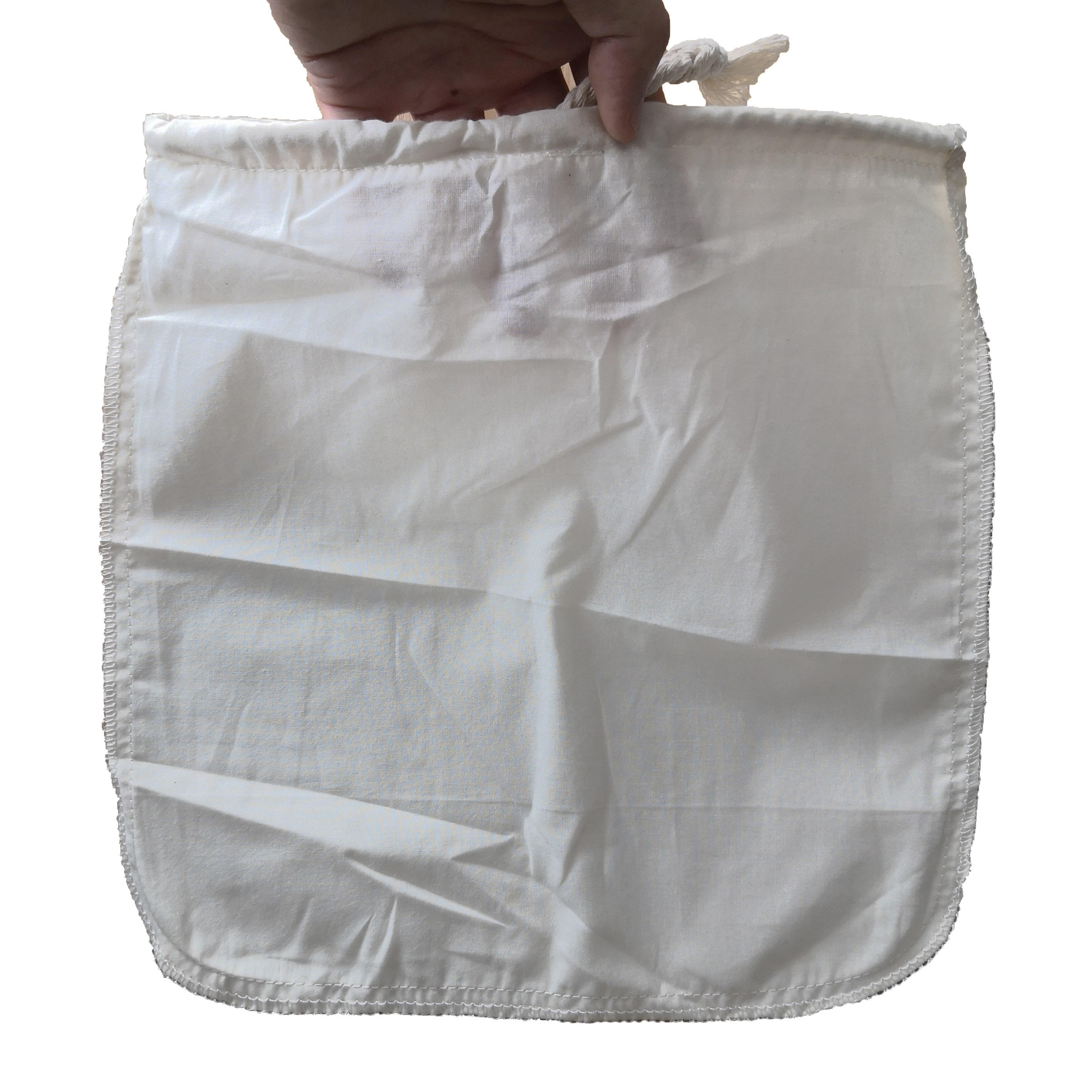 "12""x12"" Natural Cheesecloth Nut Milk Bags 100% Unbleached Cotton Cloth Bags for Cheese Tea Yogurt Juice Wine Soup Herbs"