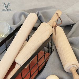 Made in China french mini small dumpling wood design rolling pin set for baking