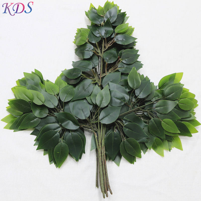 artificial tree branches and leaves plastic decorative simulation gluing banyan tree leaves artificial leaves for decoration