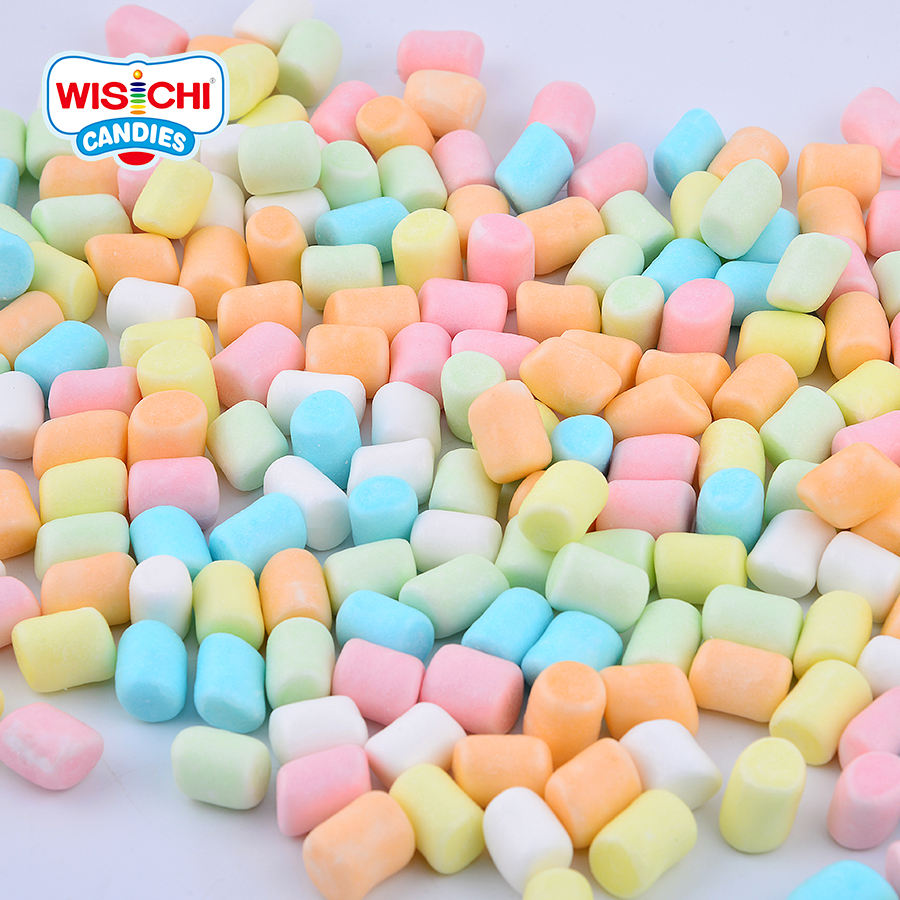 Free sample WISICHI 0.8g colourful column coated mini marshmallow for coffee