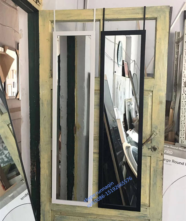 30x120cm 40x150cm wholesale Home decorative White framed wall mirror hanging bathroom mirror door mirror