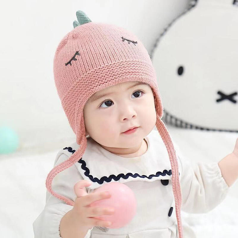 Girls Kids Childrens Warm Winter Hat and Gloves SET Animal Face Ears Bobbles Ski