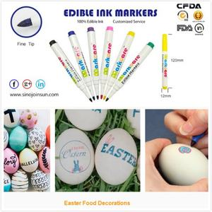 edible food marker pen for cookies decoration