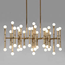 Modern gold branch Nordic creative bamboo festival chandelier