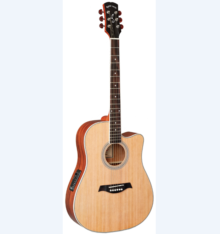 hot 41 inch acoustic guitar cheap wooden acoustic electric guitar with pickup