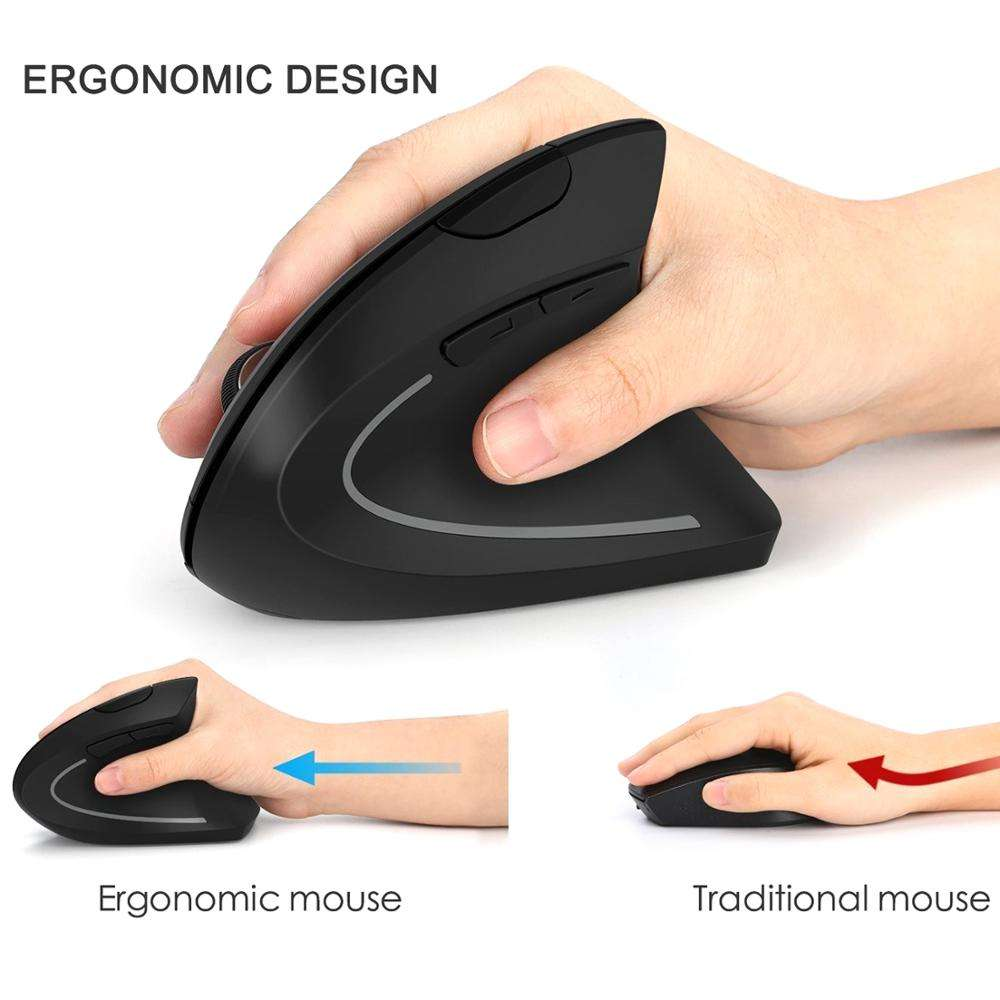Newproducts 2020 electronics Special Design Computer USB Optical Wireless Mouse 6D Vertical Gaming Ergonomic Mouse