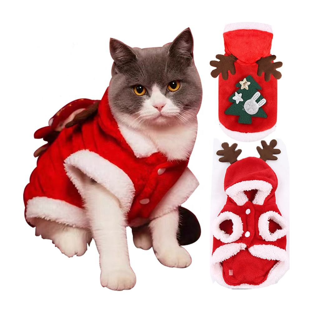 ZMaker Luxury Designer Pet Christmas Clothes Winter Apparel For Dogs Sphynx Cats