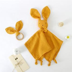 Cute Rabbit Organic Cotton Baby Comforter Blanket Toys Bedding Toys