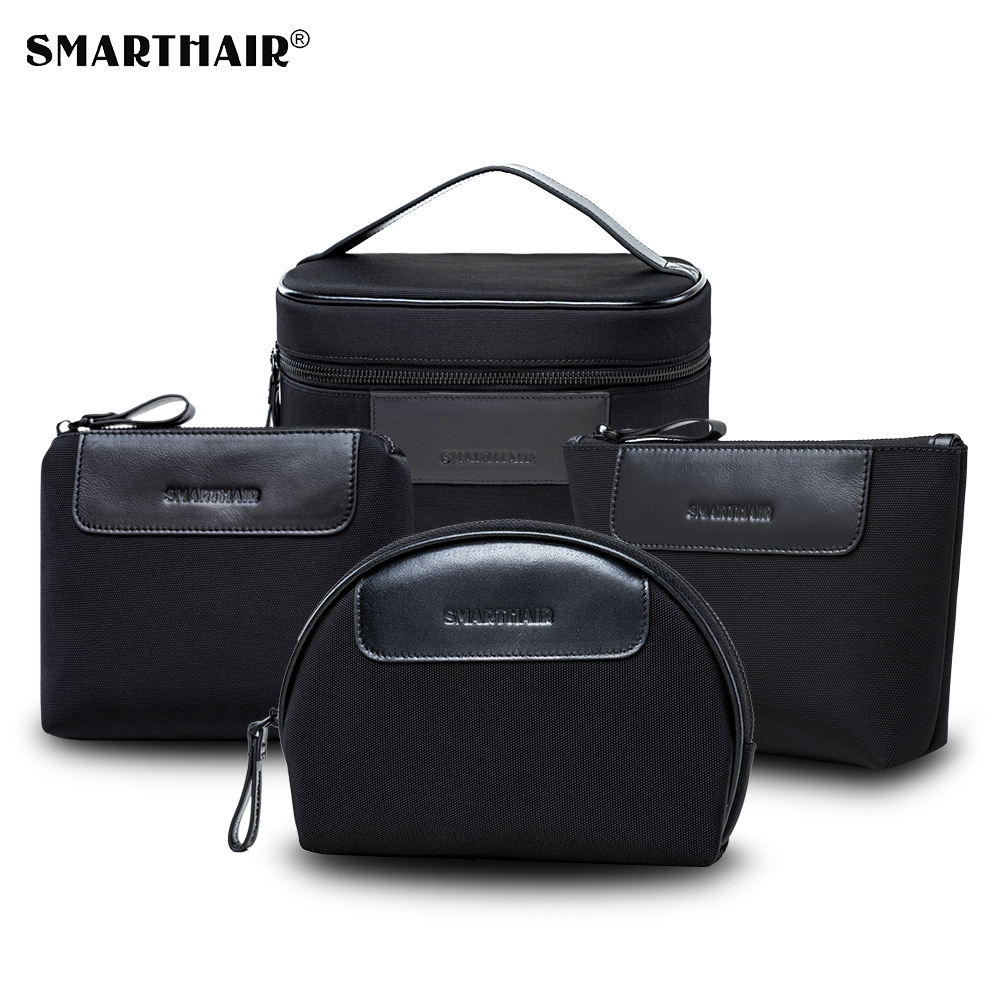 SMARTHAIR Big Makeup Nylon High End Cosmetic Brush Bag with Zipper Cosmetic Bag Logo Custom
