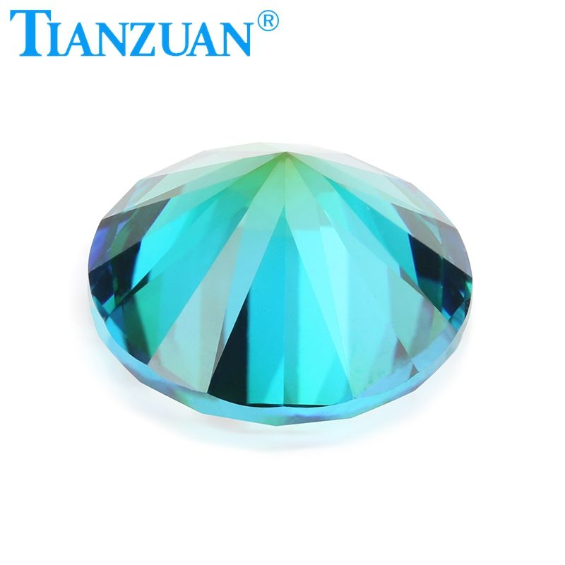 TZ006 Round shape cubic zirconia special color one-time forming multi green blue color cz loose stone