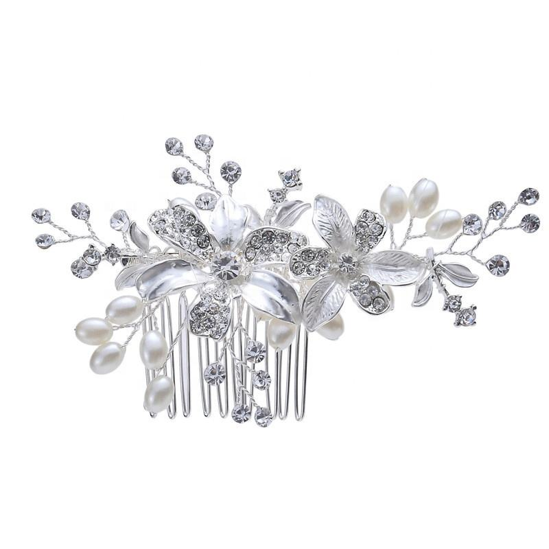 2020 Handmade Crystals Fancy Bridal Hair Jewelry Accessories Pearl Wedding Bridal Hair Combs