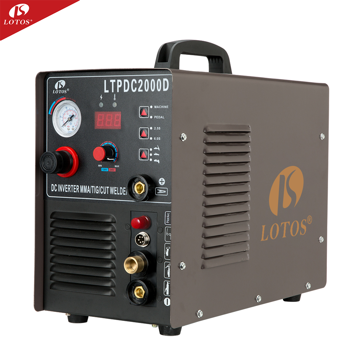 Lotos LTPDC2000D welder inverter 200a CUT MMA TIG 3 in1 inverter welding machine price for sale