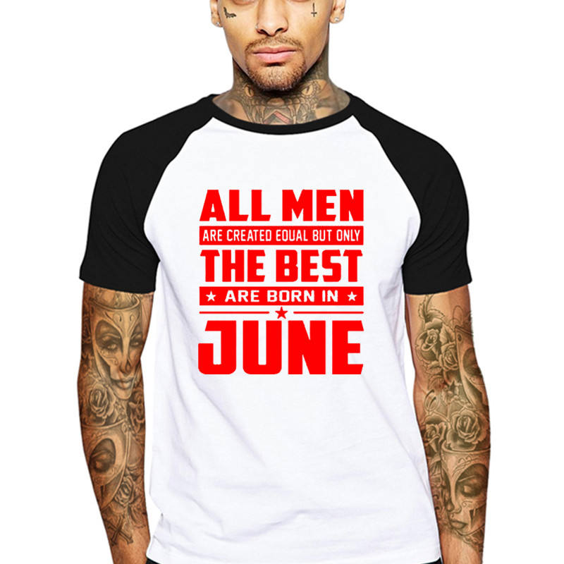 Camisetas de amor para hombres, camisas con frase are Creed equal the best are born in June Yellow safety Love fútbol Buy en rojo y blanco