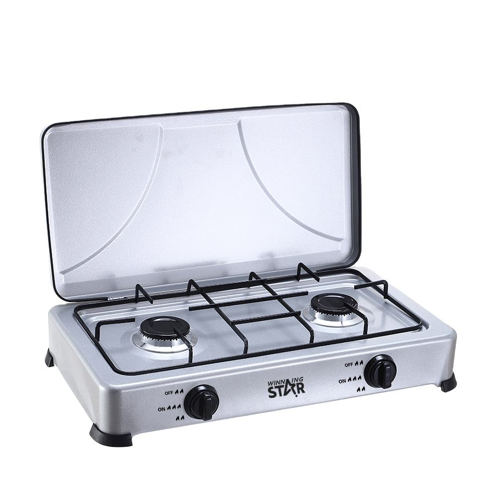 ST-9603 WINNING STAR Home Deluxe Gas Stove with Cover 2Burners Gas Cooker