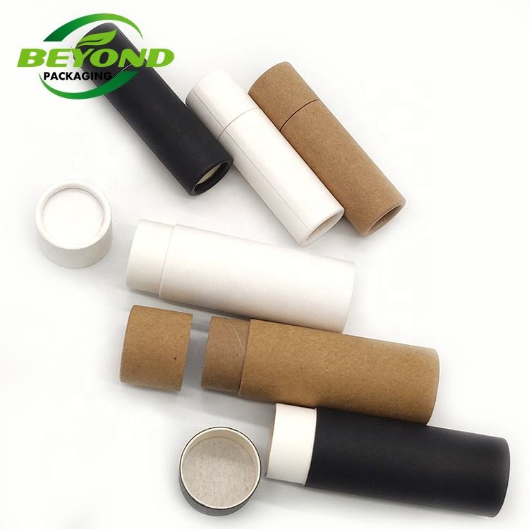 Push up paperboard tube lip stick packaging cardboard tube small 0.5oz 14g lip balme/deodorant containers packaging tube
