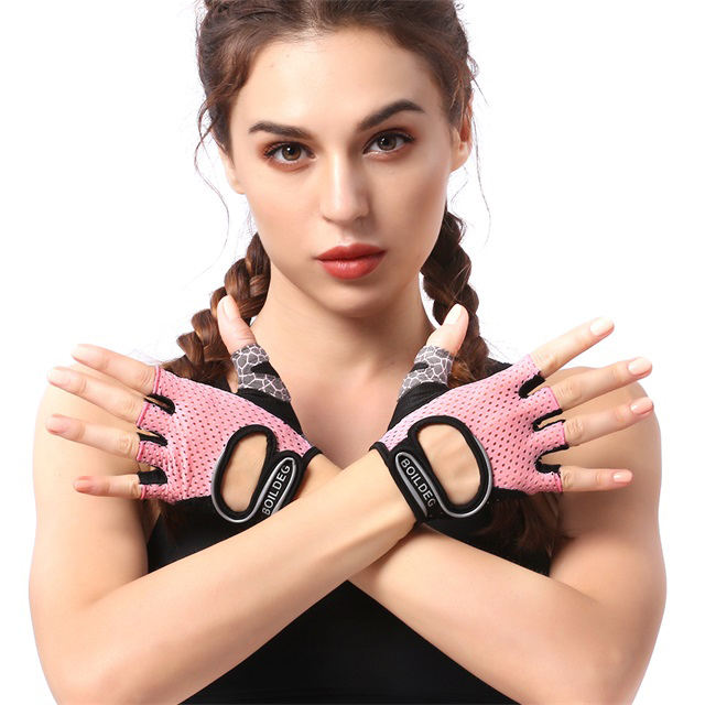 Fashion half finger cycling fitness custom gym weight lifting gloves for women
