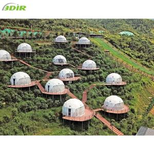 Luxury PVC Dome Home Kits Prefab Camping Igloo House Glamping Dome Shelter