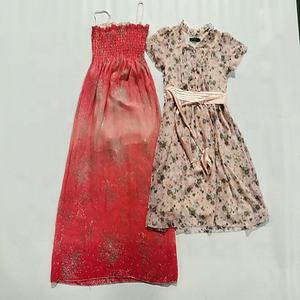 offer good quality used clothes mixed style second hand silk dress for women with good price