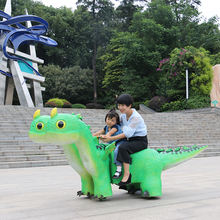 amusement park coin operated dino ride for kiddie