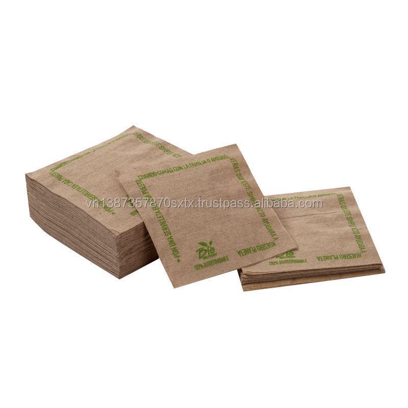 Customized bamboo paper napkin for hotel and restaurant