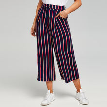 OEM Service Women's Casual Pants Fashion Striped Culottes