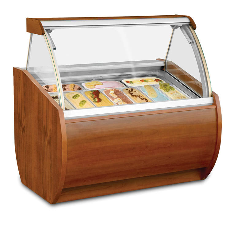 Commercial Used Outdoor Italian Ice Cream Display Freezer For Sale