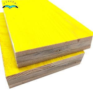 LEONKING 3 ply FSC yellow plywood concrete formwork boards / formwork edge boards