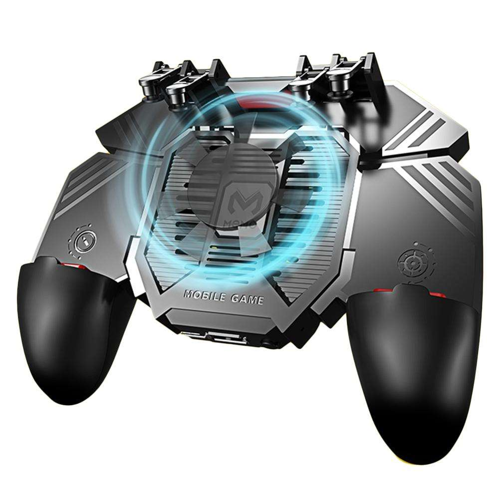 AK77 Pubg LeagueのLegends Wild Rift 4000mAhワイヤレスBluetooth Cooling Fan Mobile Game Controller For iPhone Android