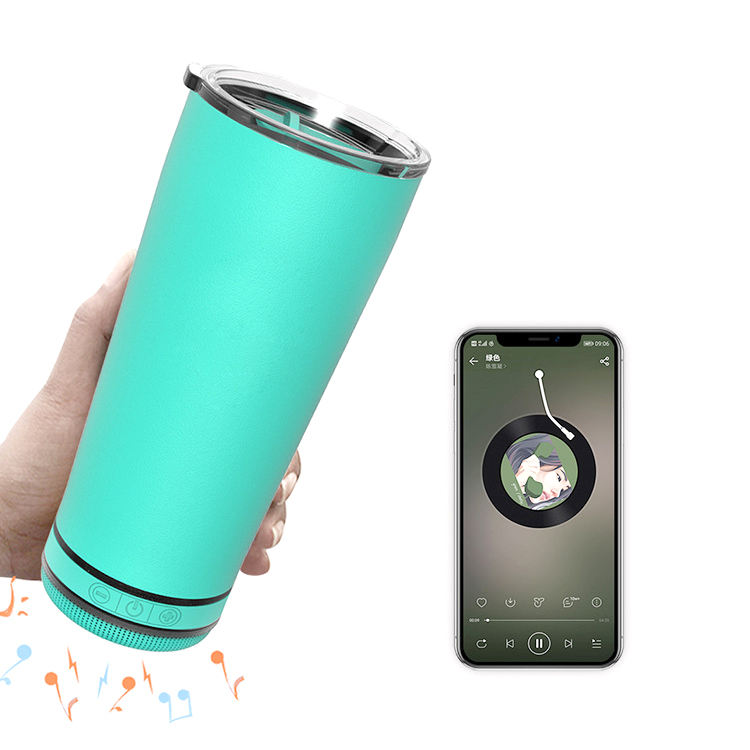 500ml Stay Hydrated And Enjoy Music Tumbler Wireless Bluetooth Speaker Water Bottle Stainless Steel Flask Smart Thermos