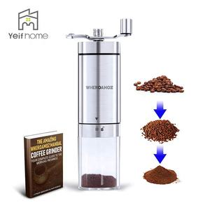 Professional Arabic Commercial Stainless Steel Mini Manual Burr Coffee Grinder