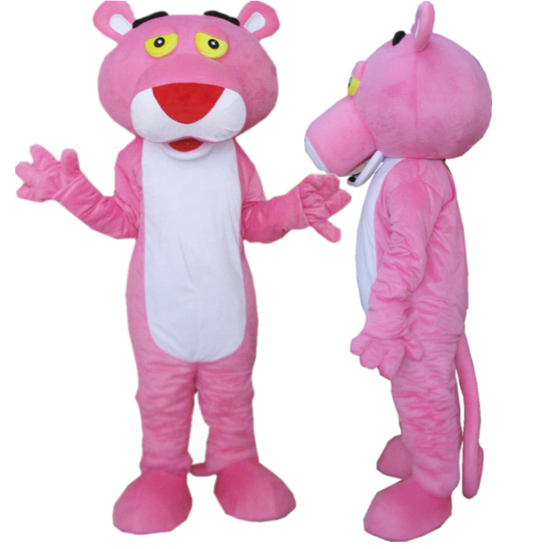 Hola affordable pink panther mascot costumes/cosplay costumes