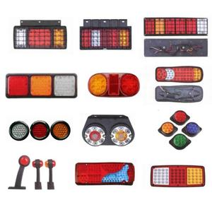 man 12 volt 12v 24v 6 5 inch stop rear led truck tail lights for trailers tractor bus car