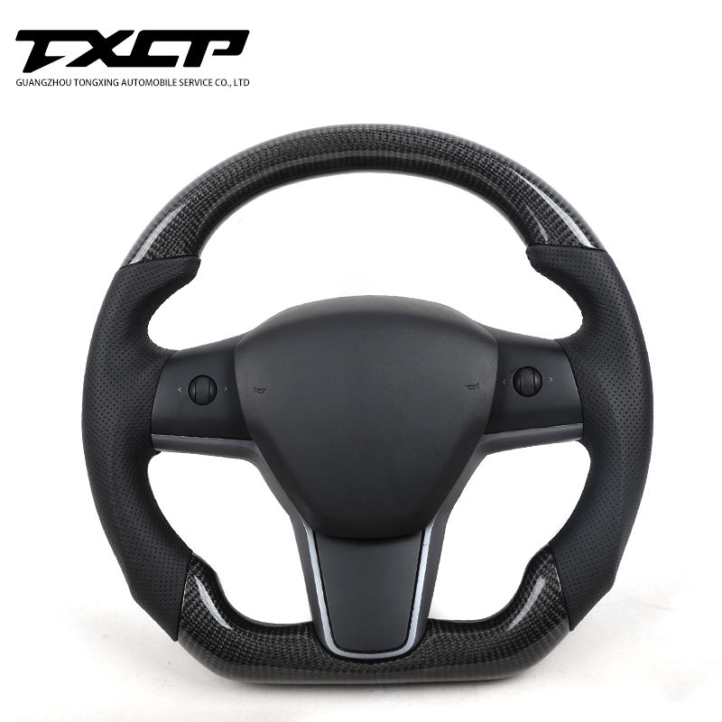 Private custom carbon fiber steering wheels/Trims for Model3 X S /Available for all car models