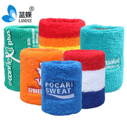 Cotton Sports Basketball Wristband / Sweatband Wrist Sweat band/Brace